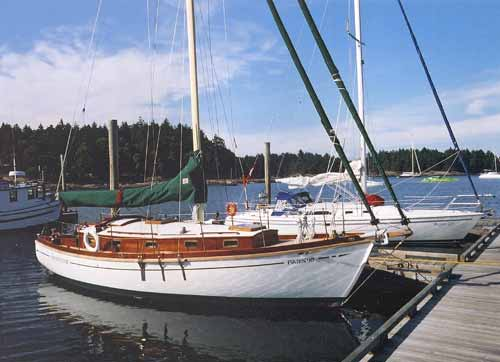 Prospector, a  custom-built cutter originally influenced by the 1930s Concordia sloop